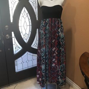 WET SEAL STRAPLESS LONG DRESS GREAT CONDITION